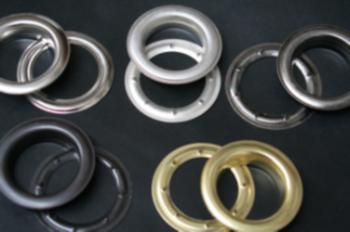 Zeilringen : ring + tegenplaat  Binnen diameter 40mm