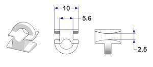 Groot Vierkant model op strip