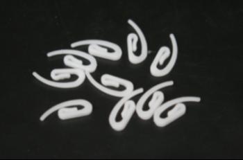 Gordijnhaakjes in plastiek (100st)